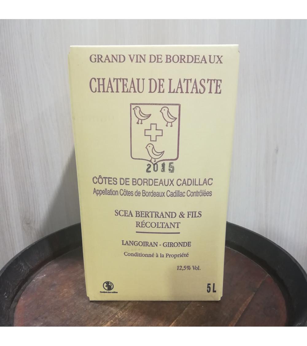 BIB 5L-Cadillac Côtes de Bordeaux Château de Lataste rouge